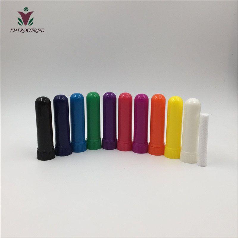 Inalatore nasale vuoto a 200 set di aromi, tubo per inalatore nasale, contenitore per inalatore nasale con stoppini di cotone di alta qualità
