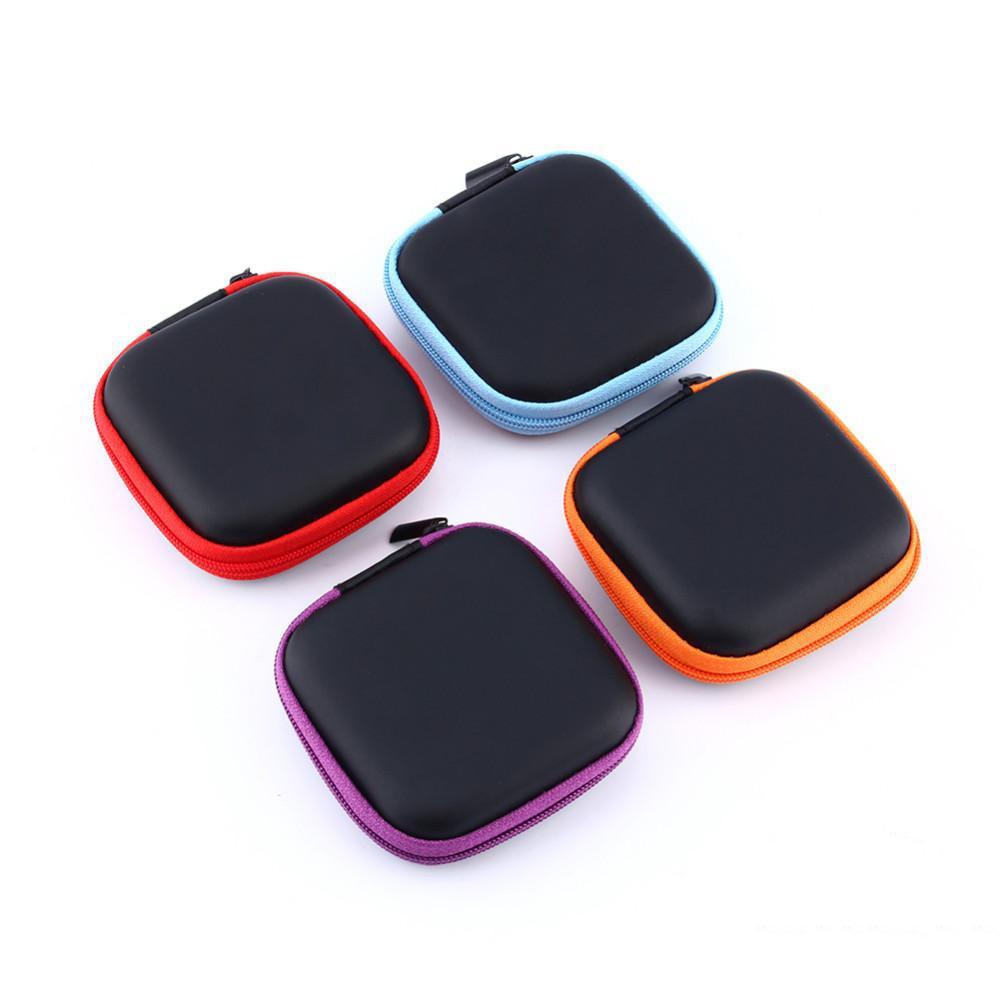 Casi Cuffie auricolare portatile Zipper auricolari Disco di immagazzinaggio di trasporto del sacchetto sacchetto scheda SD scatola Holder Carry Bag