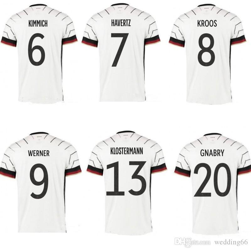 2020 독일 축구 유니폼 남성 독일 저지 HUMMELS KROOS 드락 슬러 레 우스 MULLER GOTZE 유럽 컵 축구 셔츠 유니폼