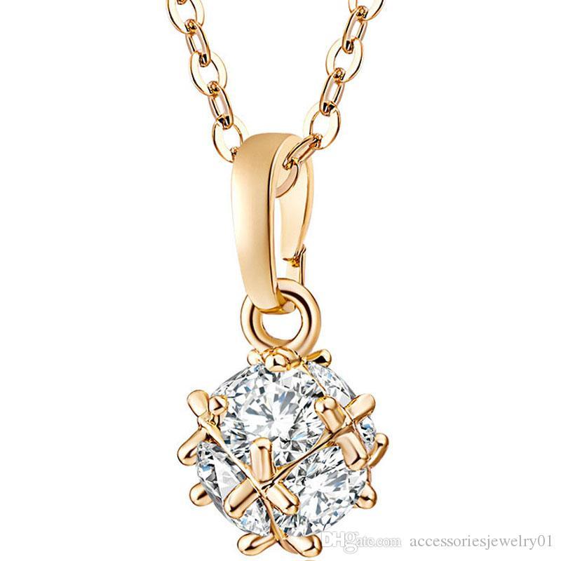 Designer Collier Petit Square-manuportable Zircon Pendentif Colliers pour femmes fille cadeau Marque Bijoux Designer de luxe Collier Femme