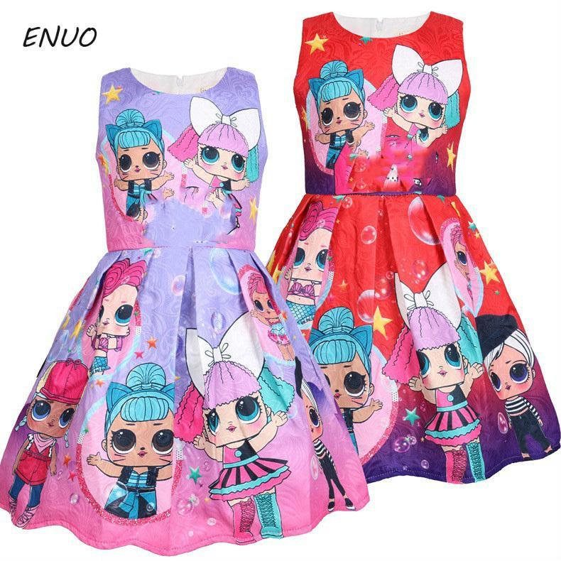 2019 Autumn Children Dress Polka Dot Kids Dresses For Girls Cotton Sleeveless Girl Dress Cute Girls Clothes 3-8 Years Old Y19051103