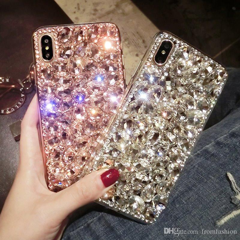 Luxus mode voller bling kristall diamant case abdeckung für iphone 11 pro xs max xr x 8 7 6 s plus samsung galaxy note 10 9 8 s10 s9 / 8 plus s10e