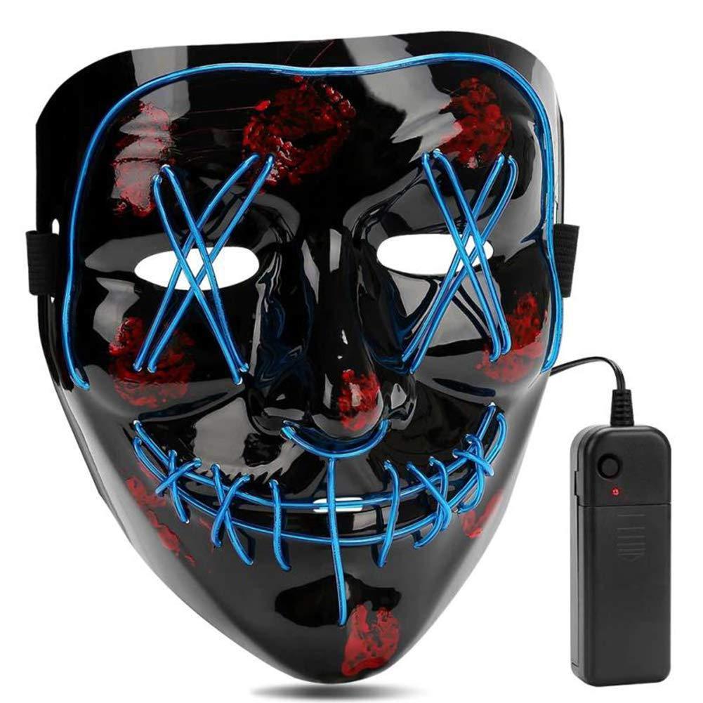 50шт Хэллоуина маски LED Light Up Смешные маскирует Purge Год выборов Большой фестивальный Косплей Поставки партии маски