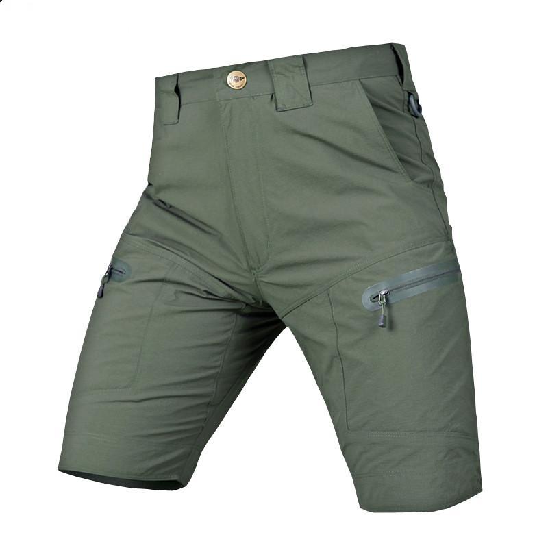 Sommer-Männer im Freien trocknen schnell Breathable elastische Shorts Trainings Camping Jagd Stadt Tactical SWAT Kampf Cargo Short Hose
