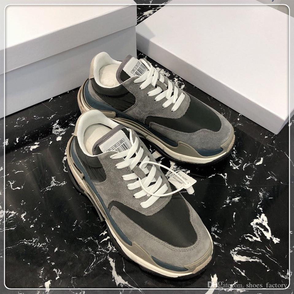 КП 2019 папа обувь роскошный дизайнер комфорт Повседневная обувь мужская повседневная жизнь скейтбординг обувь сделать старые спортивные chaussures ходьба кроссовки