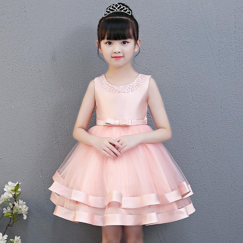 Тик Ток 2020 Новых Девочки летнего платья для детей День рождения свадебного платья Performance Pengpeng марля принцесса юбка