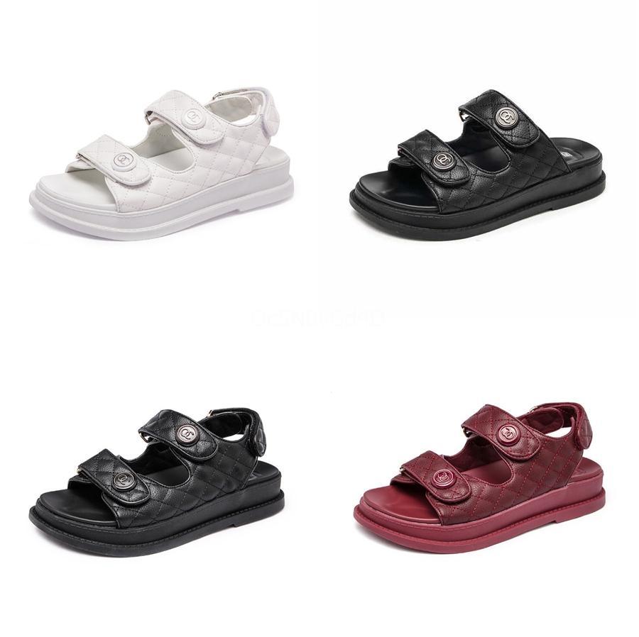 Kadınlar Sandalet 2020 Yaz Gladyatör Sandalet Yumuşak Deri Sandal Ayakkabı Kadınlar Bayanlar Flip Flop Flats Topuk Sandalia Plataforma L14 # 966