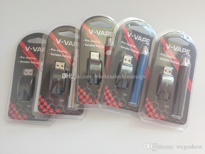 650 mAh Preheating Function EVOD Variable Voltage 2.6V~4.2V CE3 Vape Pen 510 Thread Battery For Slim CE3 Vape Cartridges
