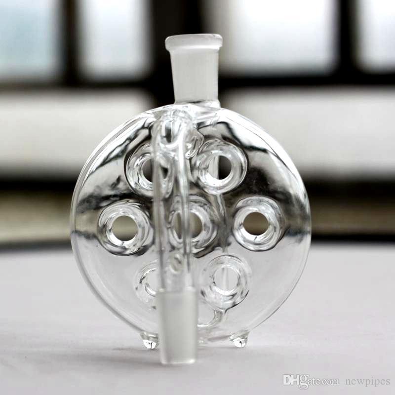 10 Style Glass Ash Catcher Pour Bong Smoking Ashcatcher avec trou 14.4mm 18.8mm mixte mâle femelle pour Glass Bongs accessoires