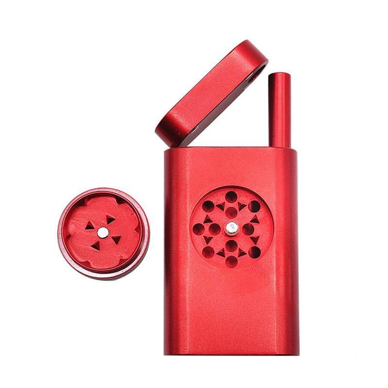 новый ТворческийСтиль Tobacco дробилка набор с дымовой трубой из алюминиевого сплава Grinder табак металла трубы Dugout