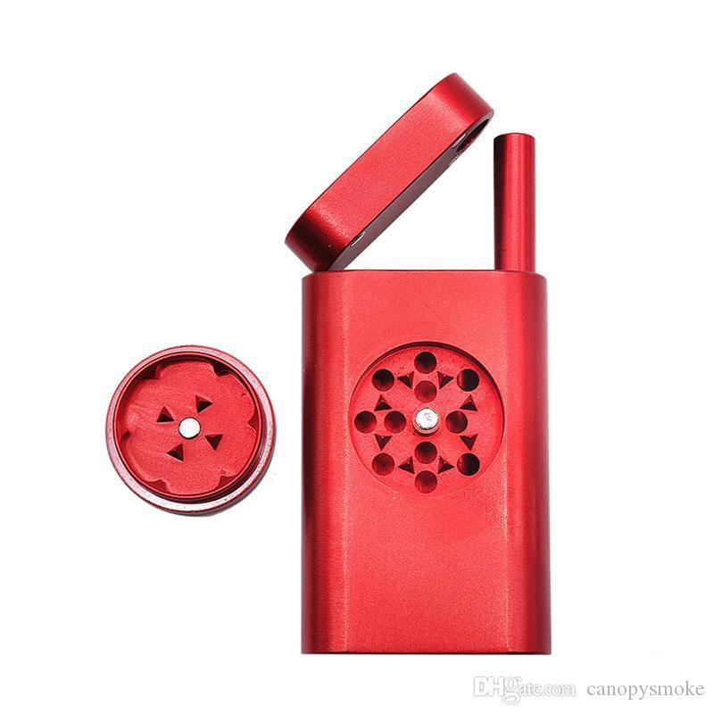 nuevo Estilo creativo Tabaco Trituradora Con Humo de tubería de aleación de aluminio Grinder tabaco de pipa de metal Dugout