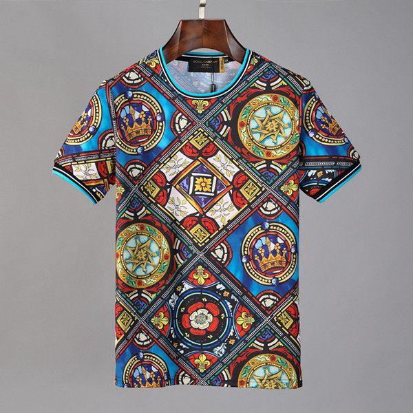 19SS mens concepteur t-shirt à manches courtes en coton O col spandex chemise pour hommes T-shirt Slim hommes doux DHBOMC156