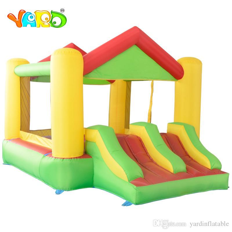 Jardim Hot selling Insuflable Home Uso Oxford Castelo Jumping House Casa De Bouncer Slide Duplo Para Crianças Jogo