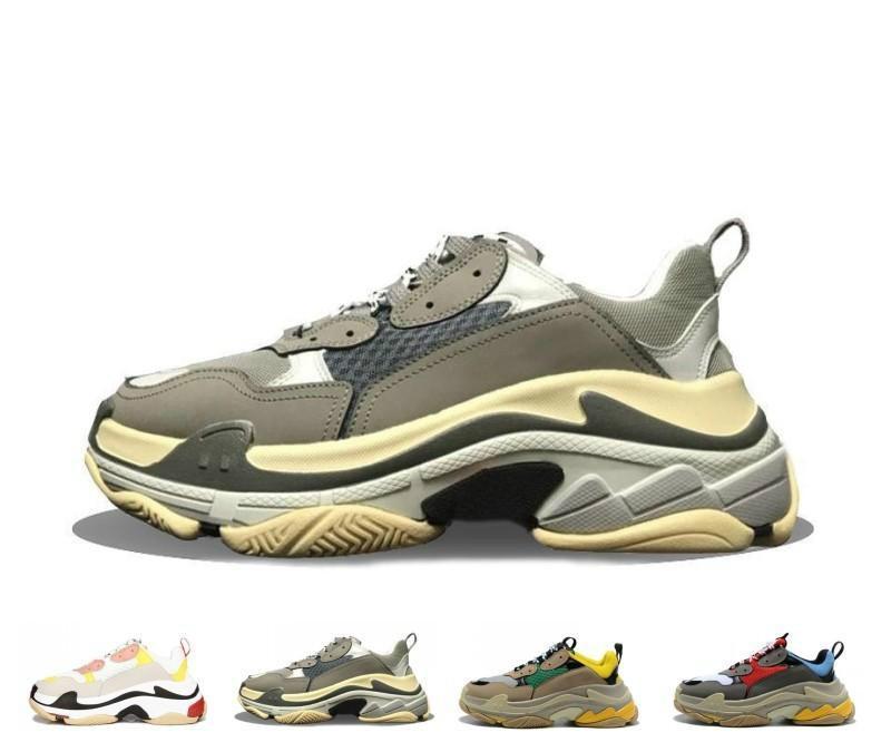 2020 Sale designer Paris 17FW Triple s кроссовки для мужчин женщин черный красный белый зеленый Повседневная обувь для папы теннисные кроссовки
