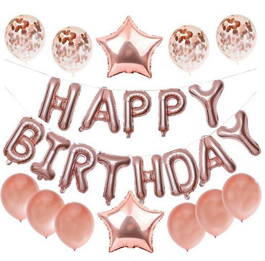 Фольгированные шары латекс воздушные шары конфетти день рождения ребенка душа ребенка Свадебный декор партии фольгированных шаров 5 цветов KKA7796N