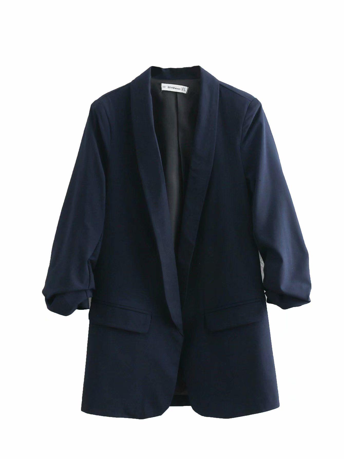 A1 # 2019 Весна новый стиль Западный стиль Чжэ чжоу Сю Versitile вскользь пиджак