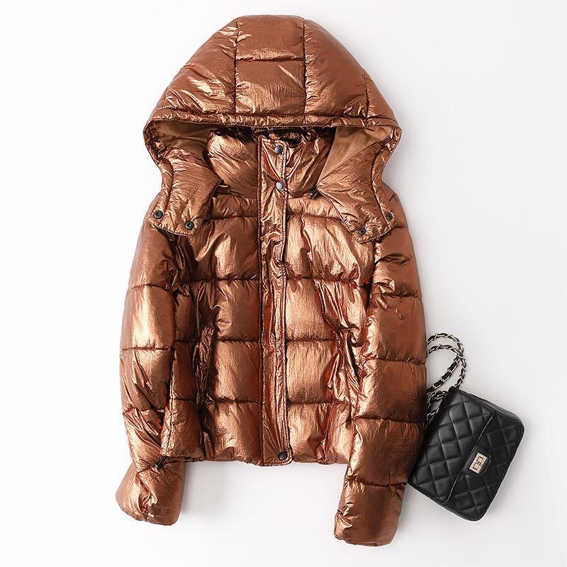LEAG 2019 Зимние теплые пальто хлопка Короткие Женщины Parka 18053