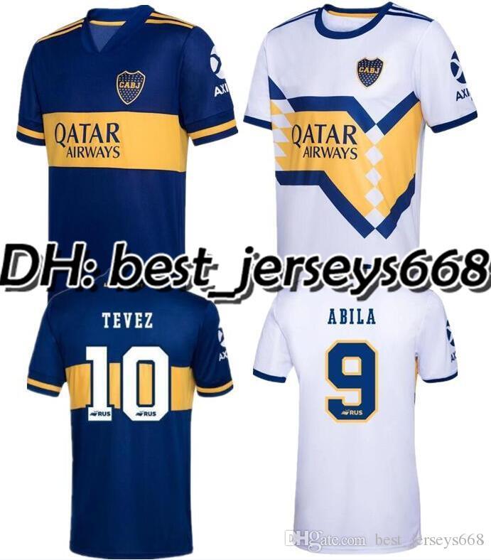 2020 2021 Boca Juniors soccer Jersey In casa Fuori casa 20 TEVEZ MARADONA MOURA ABILA REYNOSO DE ROSSI JRS maglia da calcio sport 21 Boca Juniors