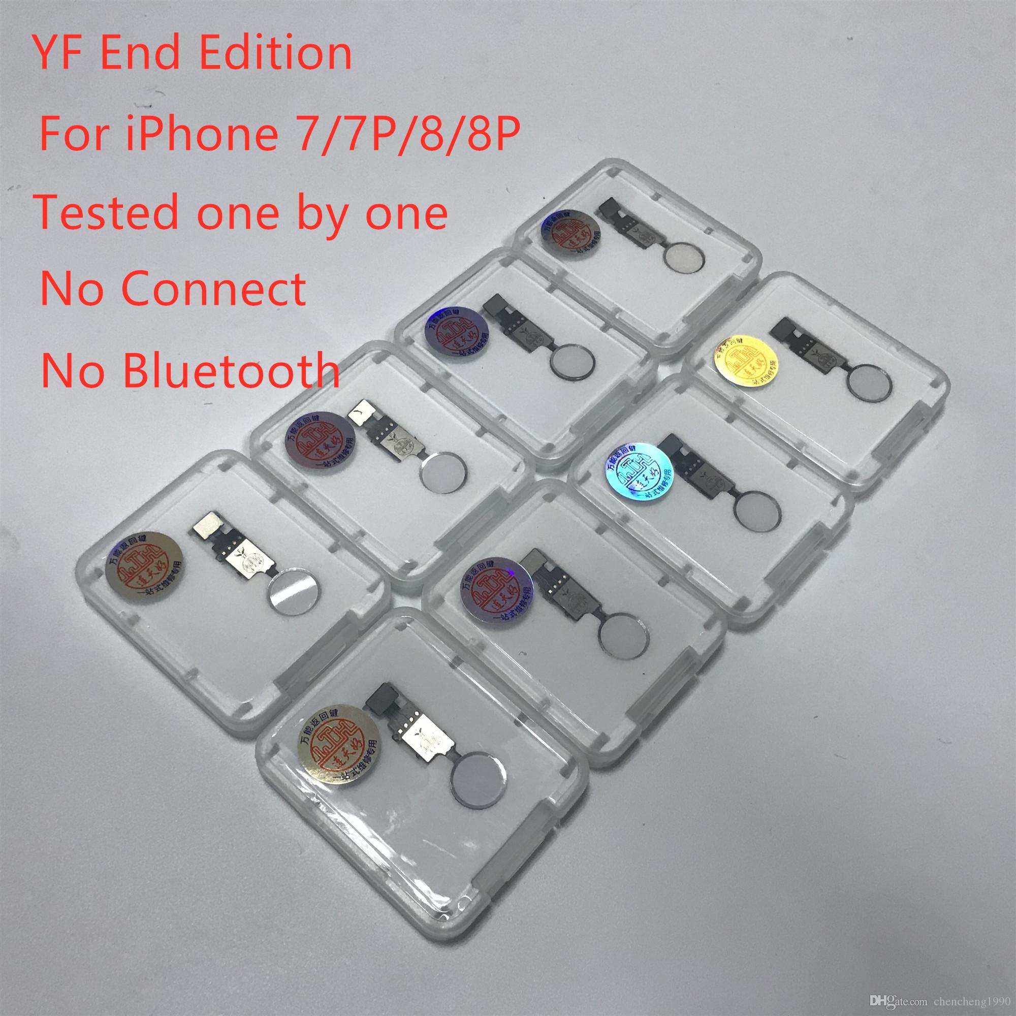 più nuova di vendita della fabbrica di New YF Fine Edizione Universal Home Button ritorno iPhone Key ID cavo della flessione No Touch per 7/7 Plus / 8g / 8 più