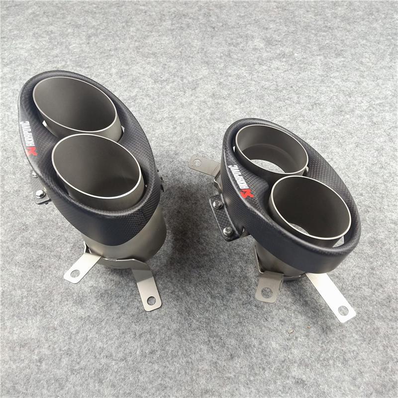 1 زوج سيارة التصميم ألياف الكربون عادم نظام نظام أنابيب نهاية ل أودي rs6 rs7 العادم نصيحة استبدال النصائح الأصلية