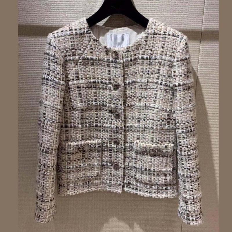 2019 مدهش معطف الشتاء الإناث أنيقة سترة التويد بالاضافة الى حجم casaco feminino 5XL 6XL casacas الفقرة موهير صوف chaqueta موهير