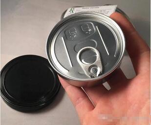 3.5g 100мл само уплотнение пресс жестяное Нет необходимость станка Pressitin Loop Pop Top semll доказательство с кольцом тянуть крышку для сухой травы этикетки на заказ наклейки