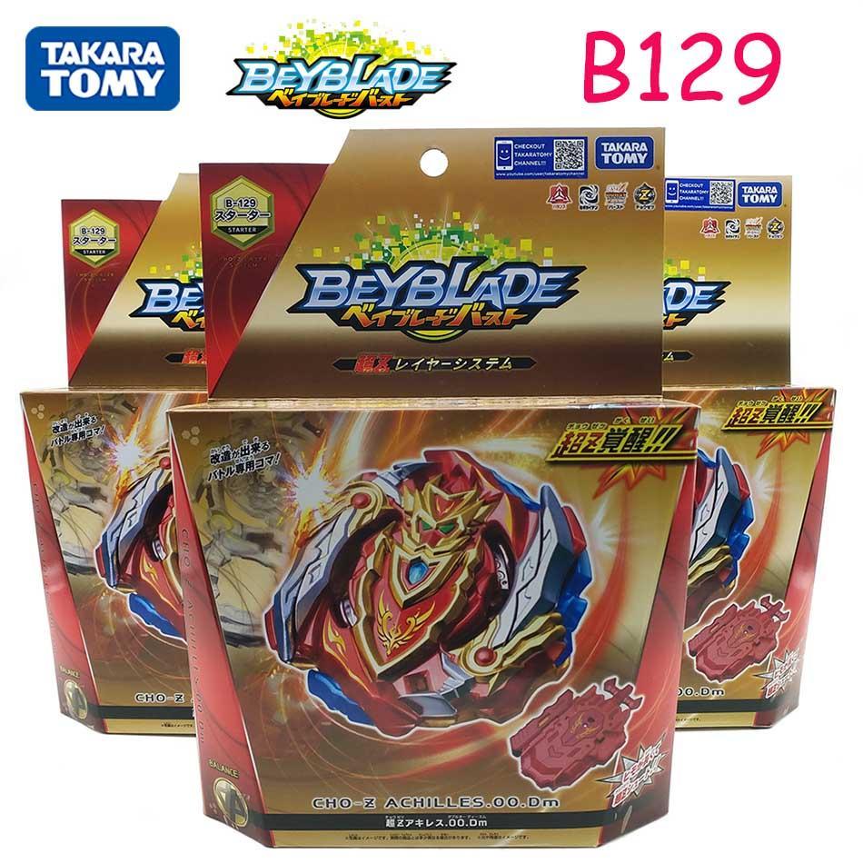 Original Takara Tomy beyblade burst B-129 Explosive Gyroscope Super Z Warrior Achilles Battle Hegemony Gyroscope B128 B127 B122