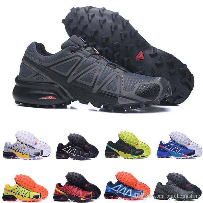 Compre Salomon Speedcross 4 IV CS Venta Barata 2018 Speed Cross 4 CS IV  Hombres Zapatillas De Running Caminar Al Aire Libre Zapatillas Deportivas  ...
