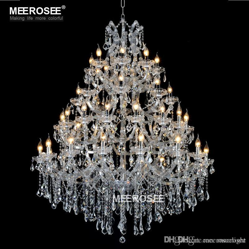 Luxurious Large Crystal Chandelier Lighting Maria Theresa Crystal Light for Hotel Project Restaurant Lustres Luminaria Lamp
