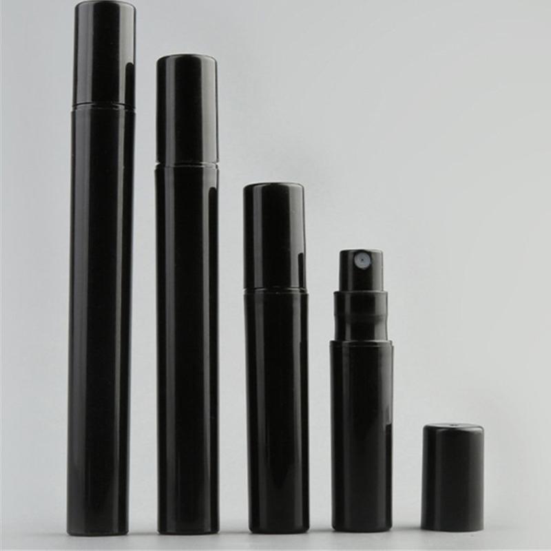 1000PCS / 많은 2ml를 3ML 4 ㎖ 5ML 블랙 미니 플라스틱 향수 병 작은 샘플 향수 분무기 스프레이 비우기
