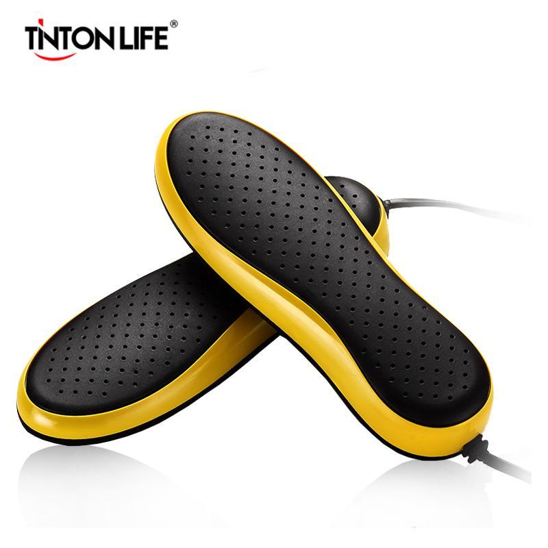 TINTON الحياة 220V المحمولة الحذاء الكهربائية مجفف Deodorizate التعقيم Dehumidificate أحذية خبز مجفف