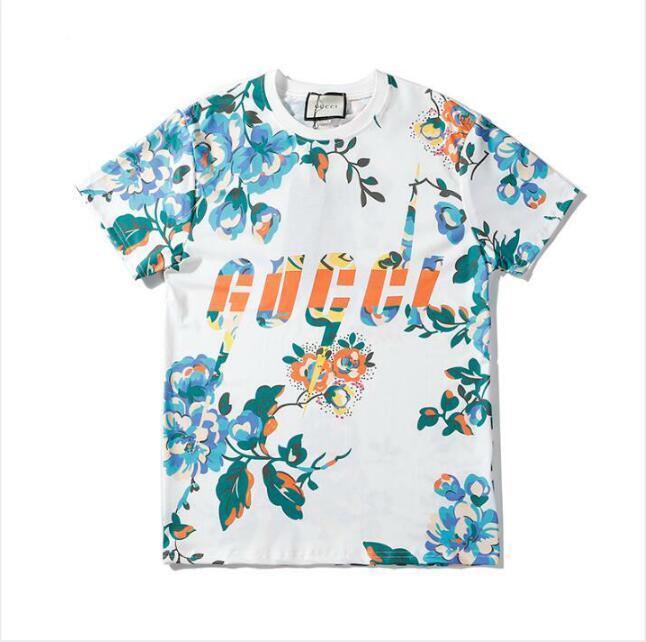 Горячая продажа 20SS лето Mens женщины тенниска конструктора тавро Tshirts с буквами дышащий Короткий мужской рукав с цветами футболками