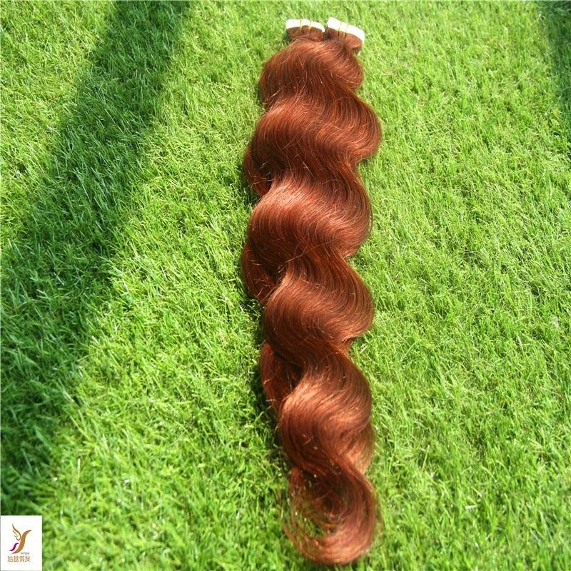 Peau Trame Remy corps humain Cheveux vague Tape Extension Remy Hair Extensions cheveux Bande 10-36 Maxi