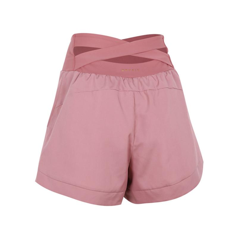 Sports Shorts Verão New Cross cintura alta corrente equitação Shorts Mulheres 2 em 1 de secagem rápida Fitness Formação solto Yoga