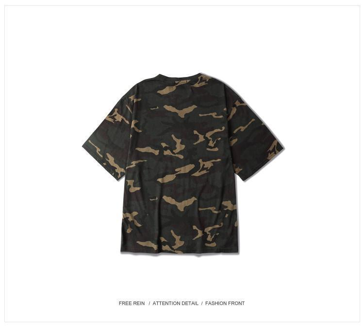 CAMISAS DE MODA GRATAS Tops Hop Camuflagem Camo camisetas Roupas Marca Meia-manga Homens Oversize New Spring Tee Nllsw