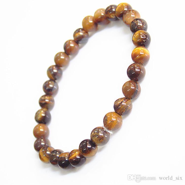 6mm natural black gold bracelet yellow tiger eye stone 27 buddhist beads Korean hand string jewelry single ring ornaments