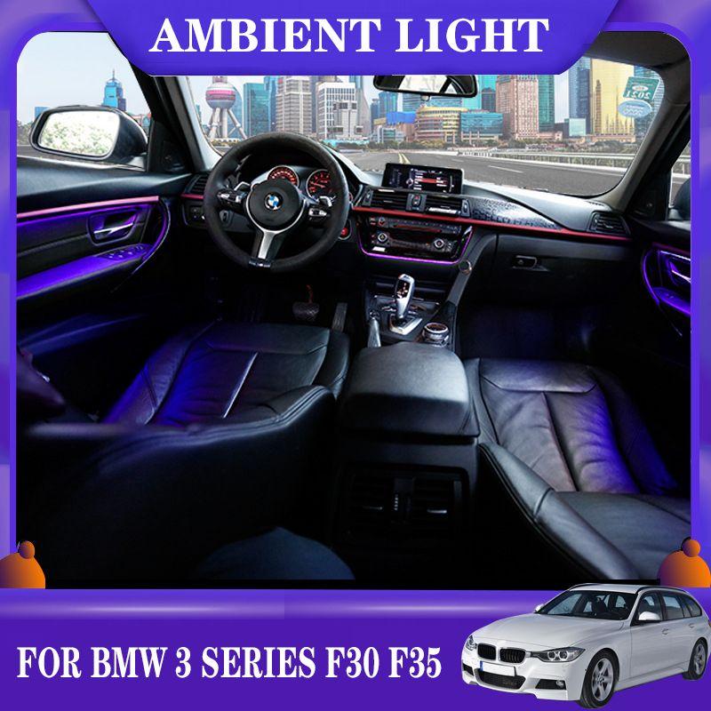 LED Ortam Işık Araba Neon İç Kapı AC Paneli BMW 3 Serisi için Dekoratif Işık Atmosfer Işık F30 F35 2013-2020