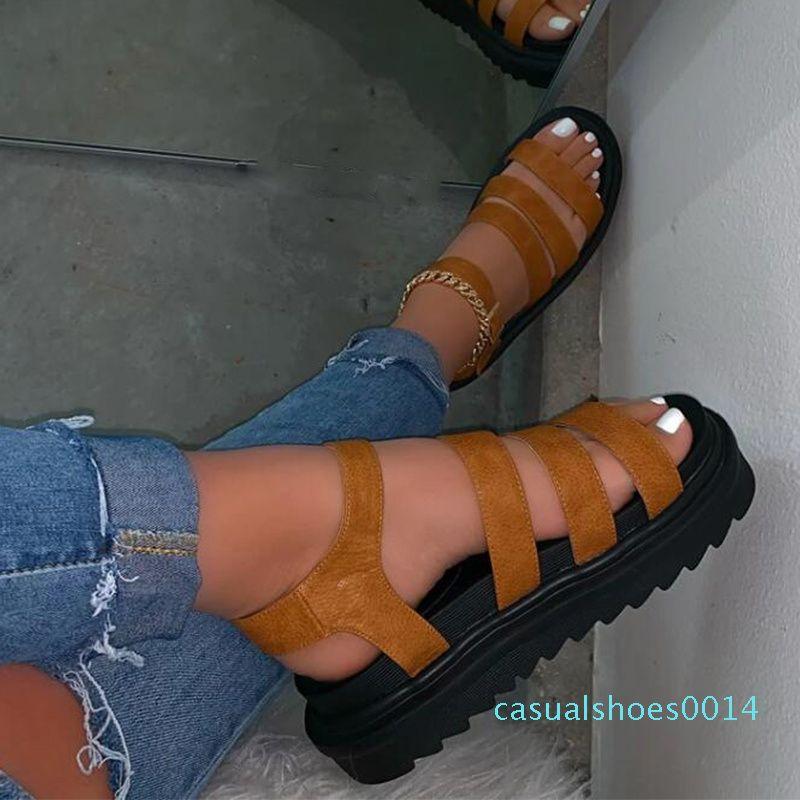 Estate Sandali Ladies Open Toe di MCCKLE donne cinturino alla caviglia con fibbia scarpe basse donna della piattaforma Comfort Casual Moda Sandali 2020 C14