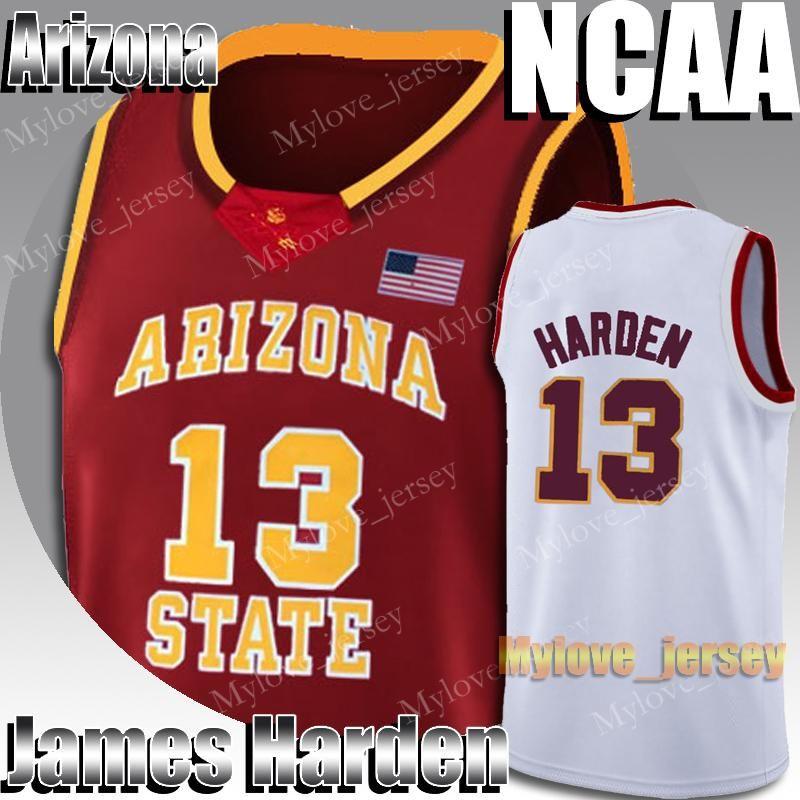 NCAA Arizona State James 13 Harden Jersey Stephen 30 Curry Kawhi 15 Leonard Russell 0 Westbrook Formalar Koleji Basketbol Forması