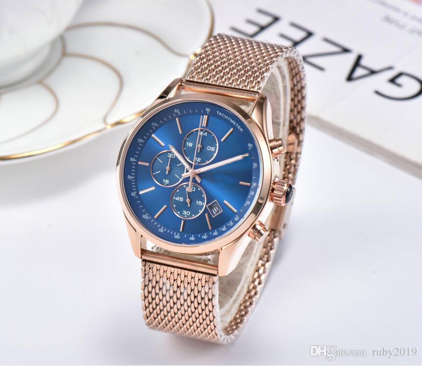 Multifunktionale wasserdichte Kalenderuhr für Herren Hochwertige Luxus-Schmuck-Armbanduhr HUGO6 BOSS6 Brand New Watch