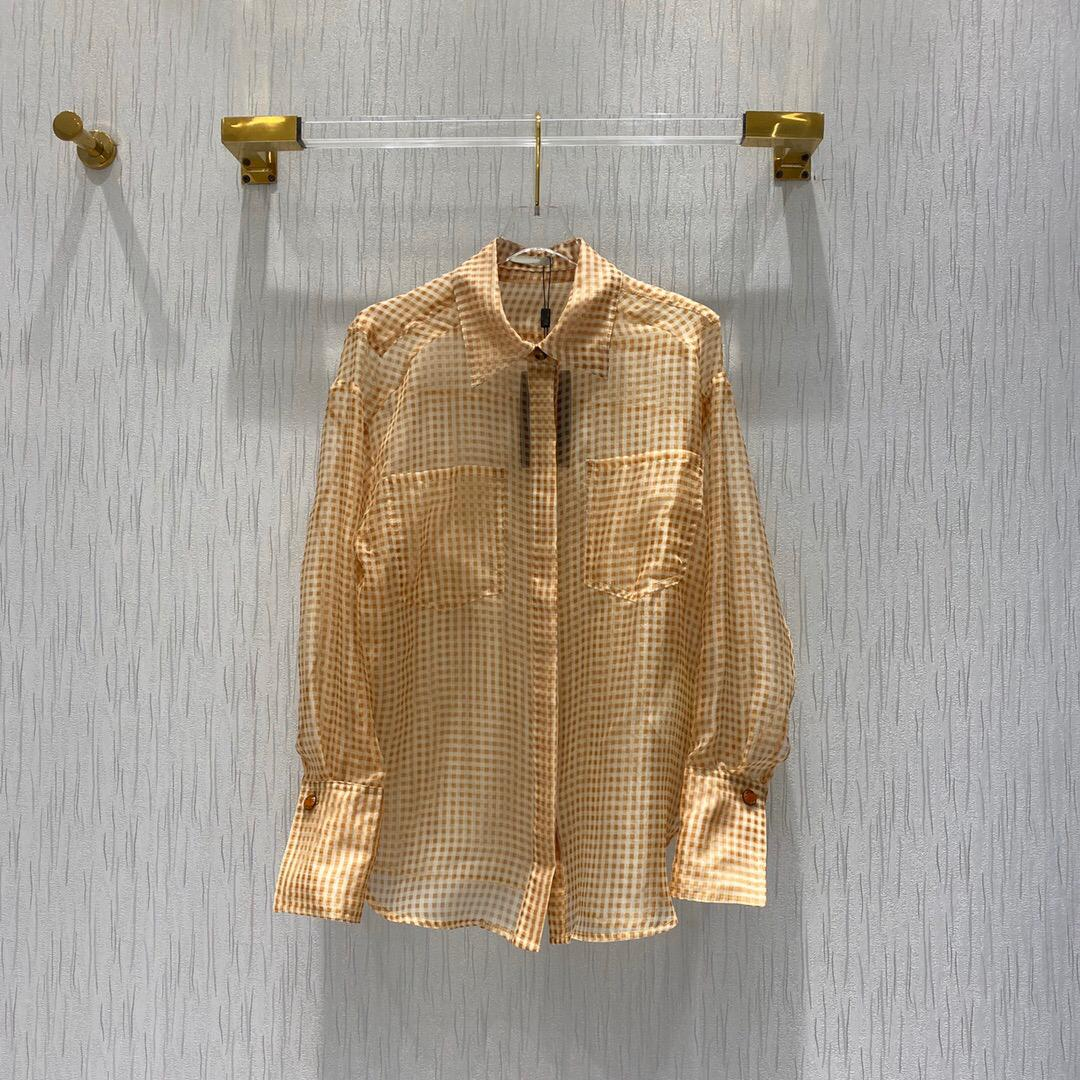 100% seda 2020 Summer Collection alta calidad de lujo marca italiana de Milán Diseñador Impreso camisa de tela escocesa de moda con estilo