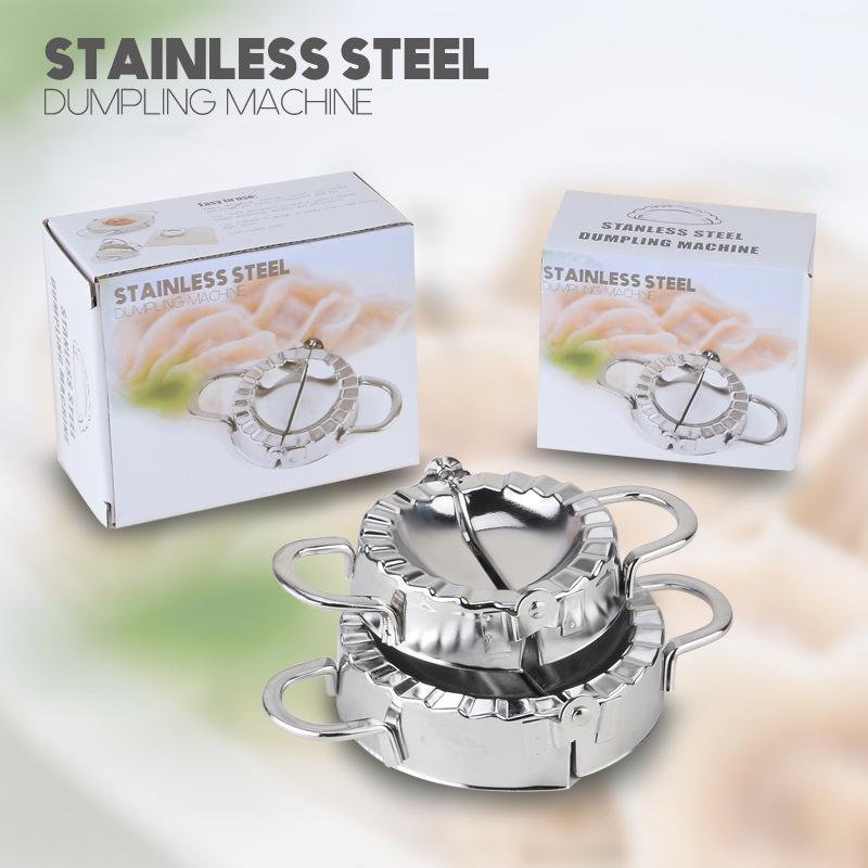 Bricolage Dumplings outil en acier inoxydable presse Dumpling machine Jiaozi appareil Maker facile Boulette Mold clip Cuisine Gadget gros VT0303