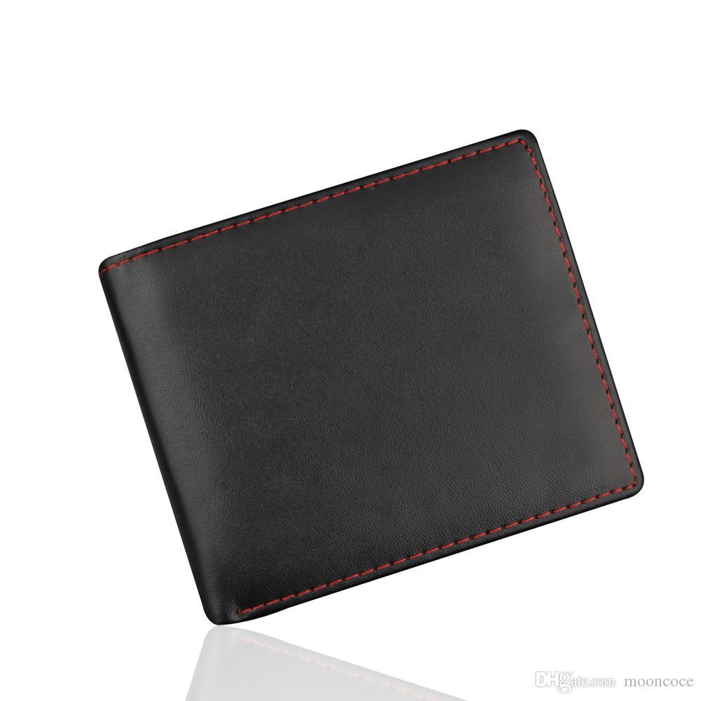 Mann-Tasche Kartenhalter-Visitenkarte Leder-Mappe Identifikation-Kreditkarte-Halter-Geldbeutel Taschen monedero hombre Mens-Mappen für Geld und Karten
