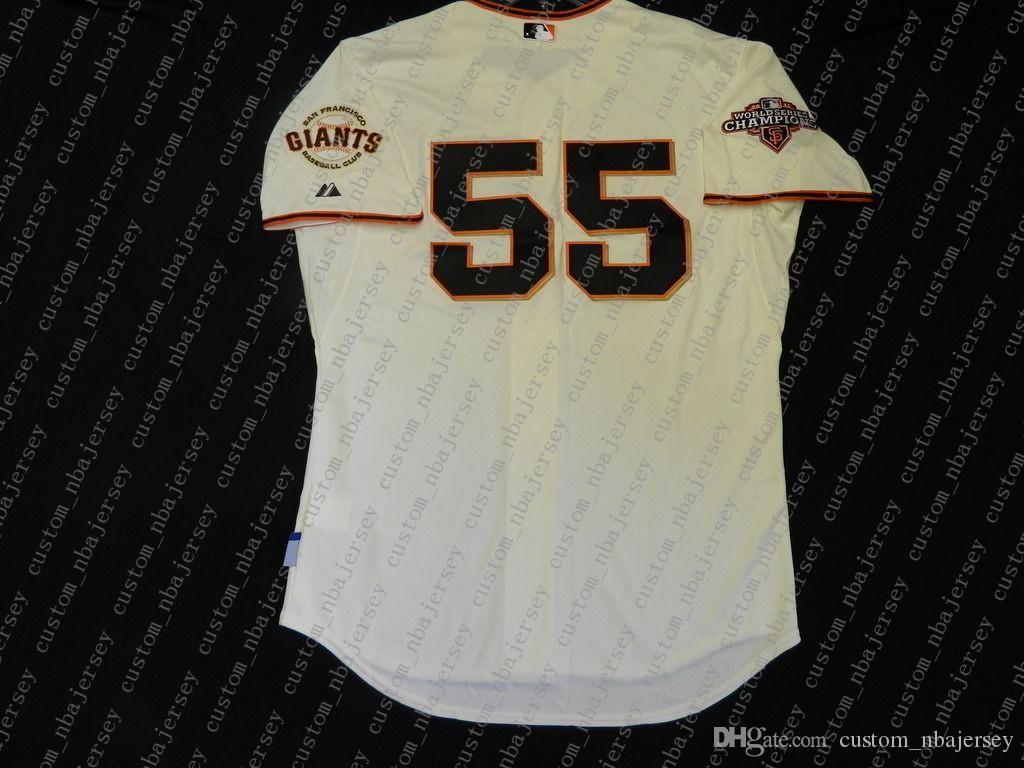 100% bordados Tim Lincecum de Jersey costurado personalizar qualquer nome número MEN Vintage Jersey NCAA JERSEY