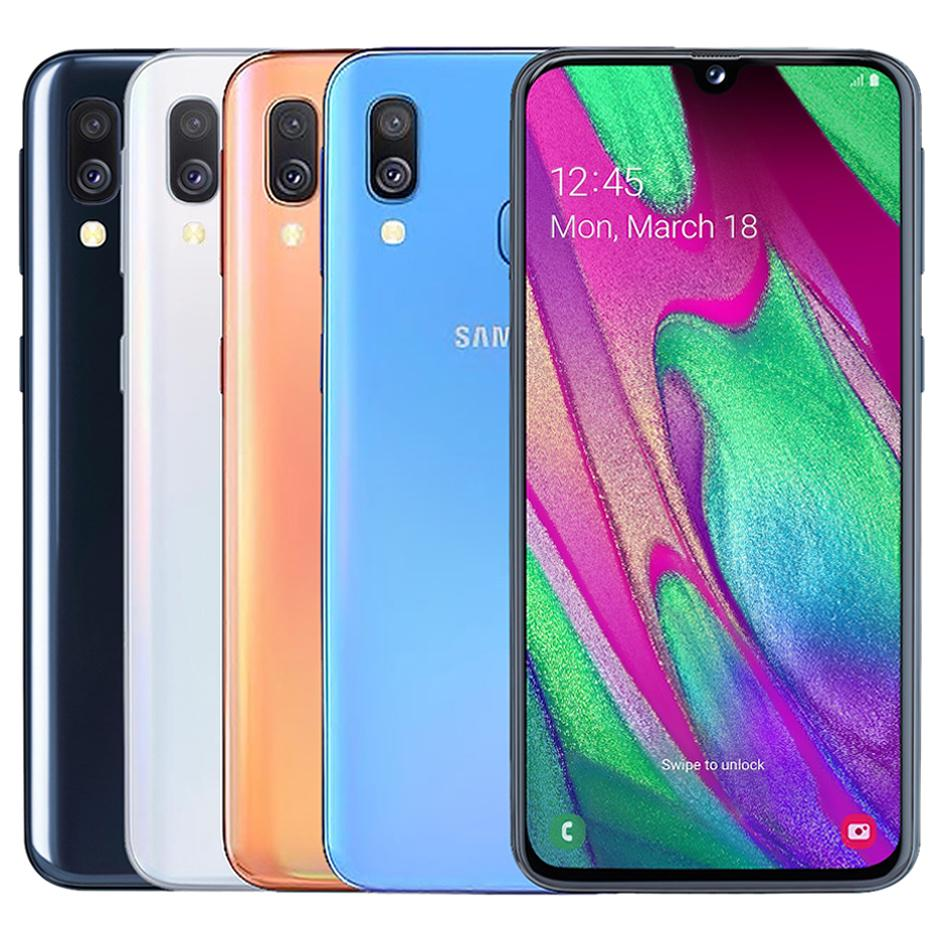 Original Refurbished Samsung Galaxy A40 A405FN / DS Dual Sim 5.9 Zoll Octa-Core 4 GB RAM 64 GB ROM 16MP entriegeltes 4G LTE Android Phone DHL5pcs