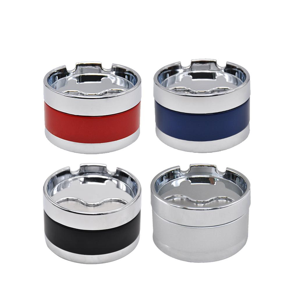 Premium Stainless Steel Extinguishing Rotary Lid Ashtray Cigarette Cup Car Butt Bucket Smoke Ash Holder Stand Buckets