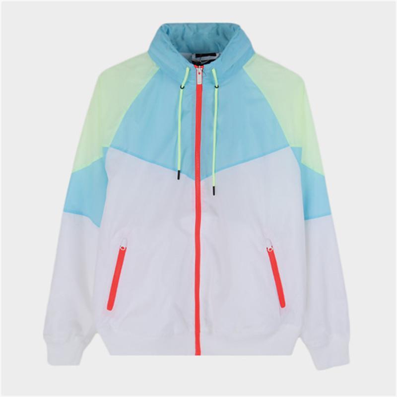 Designer Donna Giacche uomini di modo di lusso giacca a vento Autunno marca con cappuccio a maniche lunghe Zipper cappotto di sport del Mens Jacket B100999K