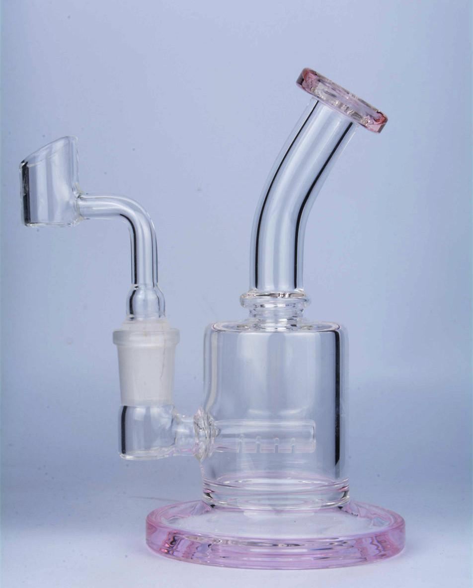 Pink Bong Glass Water Pipes Smoking Accessories Heady Glass Dab Rigs Small Bong Hookahs Oil Rigs With 14mm Banger