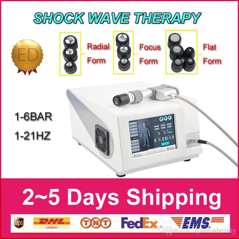 Hot Items pneumatische Stoßwellentherapiegeräte Stosswellenmaschine ESWT Physiotherapie Knie zurück Schmerzlinderung Zellulitis Entfernung / ED-Behandlung