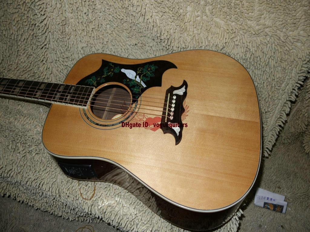 New Custom Guitars Natural Acoustic Electric Guitar With Fsm Free Shipping In Stock